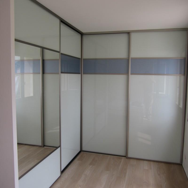 Atlantique verre laqué blanc + miroir
