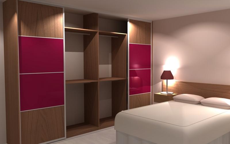 Agencement sur-mesure d'un placard pour une chambre