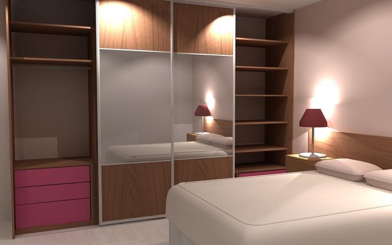 Aménagement sur-mesure d'un placard pour une chambre