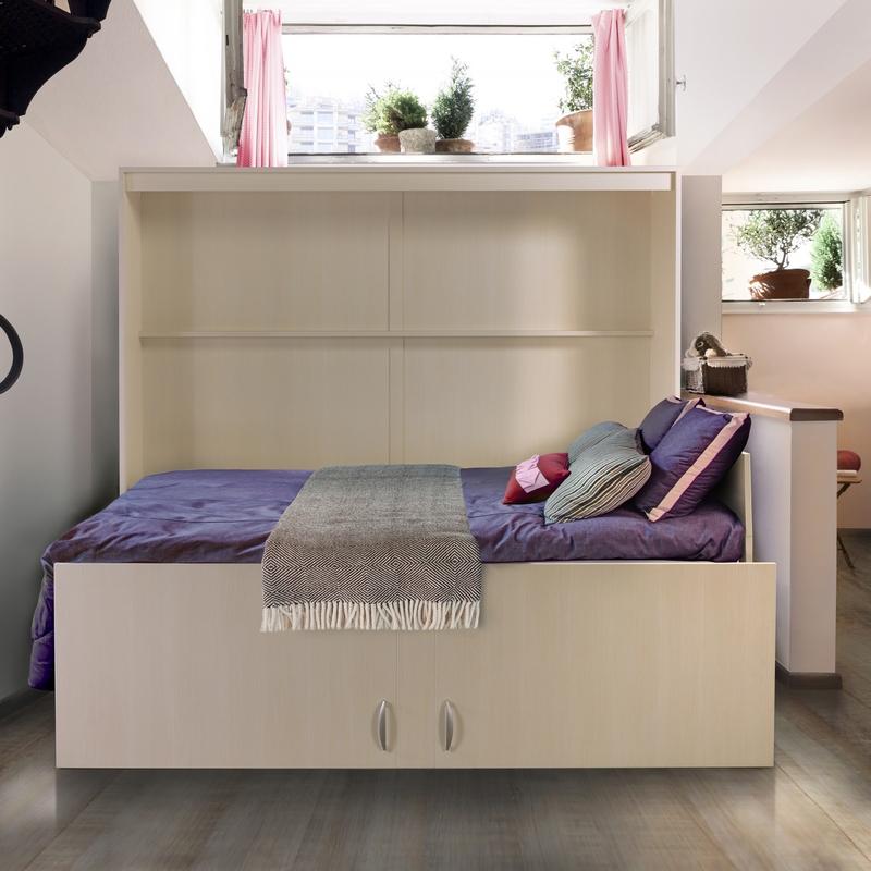 Lit rabattable horizontal modèle Melamix