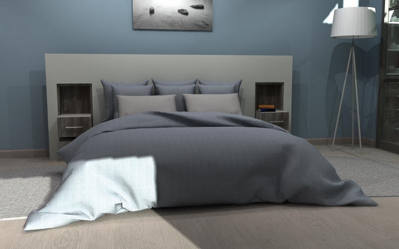 Inspiration d'une tête de lit sur-mesure dans une suite parentale