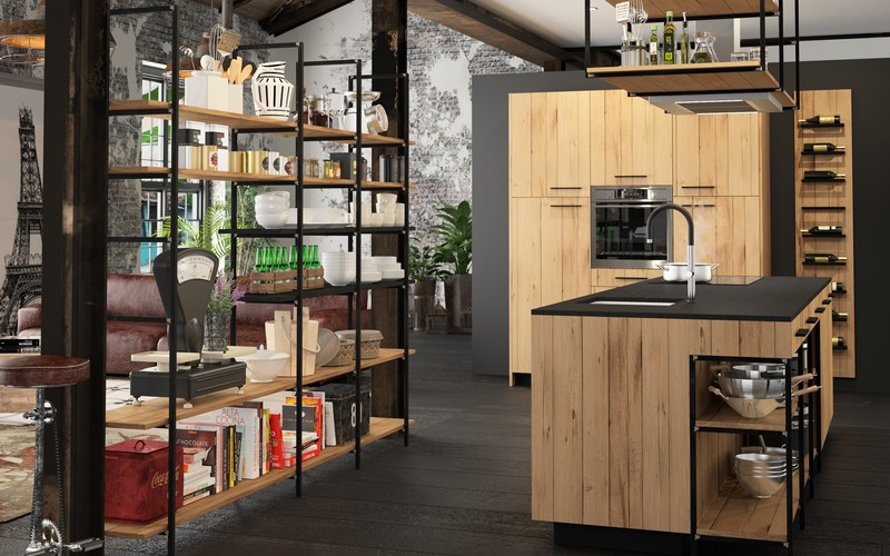 Cuisine modèle Esquisse style industriel