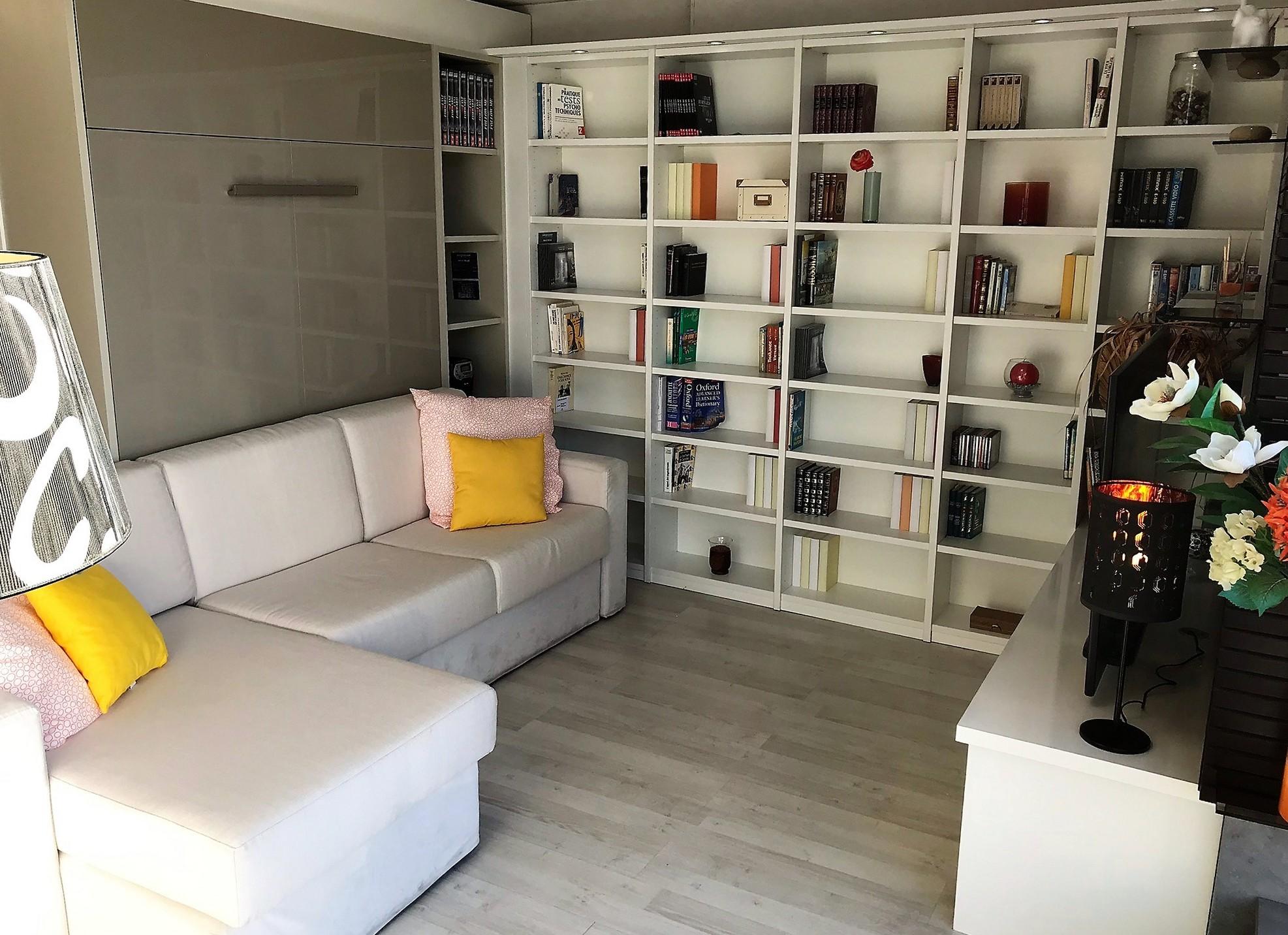 Ensemble bibliothèque et meuble télé